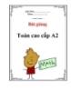 Bài giảng môn toán cao cấp A2