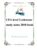 CFA level 3 schweser study notes 2010 book