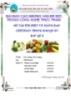 Đề tài báo cáo: Tìm hiểu về màng bao Chitosan trong bảo quản rau quả