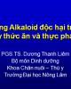 Những Alkaloid độc hại trong cây thức ăn và thực phẩm