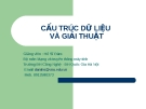 CẤU TRÚC DỮ LIỆU VÀ GIẢI THUẬT-Thuật toán và phân tích thuật toán