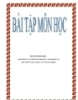 Bài tập môn học: Anhr hưởng của chính sách kinh tế - xã hội đối với môi trường hoạt động của doanh nghiệp