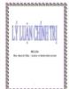 Tiểu luận: Học thuyết Mác - Lênin về hình thái xã hôi