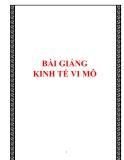 BÀI GIẢNG KINH TẾ VI MÔ