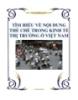 TÌM HIỂU VỀ NỘI DUNG THỂ CHẾ TRONG KINH TẾ THỊ TRƯỜNG Ở VIỆT NAM