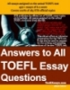 Answer to all TOEFL essays