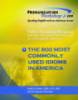 The 800 most commonly used idioms in america