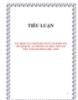 TIỂU LUẬN:  TÁC ĐỘNG CỦA THÂM HỤT NGÂN SÁCH ĐỐI VỚI NỀN KINH TẾ - LÝ THUYẾT VÀ THỰC TIỄN TẠI VIỆT NAM (GIAI ĐOẠN 2006 – 2010)