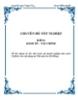 Đề tài: Quản lý vốn nhà nước tại doanh nghiệp nhà nước (Nghiên cứu vận dụng tại Nhà máy len Hà Đông)