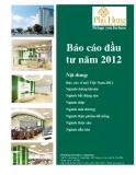 Báo cáo đầu tư năm 2012