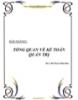 BÀI GIẢNG:TỔNG QUAN VỀ KẾ TOÁN QUẢN TRỊ