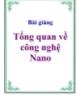 Bài Giảng: TỔNG QUAN CÔNG NGHỆ NANO