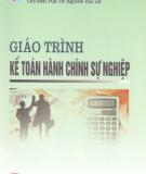 Giáo trình Kế toán hành chính sự nghiệp - PGS.TS. Nghiêm Văn Lợi (chủ biên)