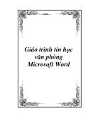 Giáo trình tin học văn phòng Microsoft Word