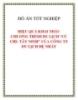 """ĐỒ ÁN TỐT NGHIỆP """"HIỆU QUẢ KHAI THÁC CHƯƠNG TRÌNH DU LỊCH CỦ CHI TÂY NINH CỦA CÔNG TY DU LỊCH ĐỆ NHẤT"""""""