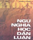 Ebook Ngữ nghĩa học dẫn luận - NXB Giáo dục