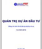 Quản trị dự án đầu tư -  GS.TS. BÙI XUÂN PHONG