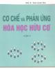 Cơ chế và phản ứng hóa học hữu cơ tập 3 - PGS.TS Thái Doãn Tĩnh