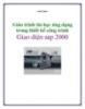 Giáo trình tin học ứng dụng trong thiết kế công trình: Giao diện Sap 2000 (ĐH. Xây dựng)