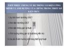 Bài giảng Giới thiệu chung về hệ thống cơ điện công trình và ảnh hưởng của chúng trong thiết kế kiến trúc