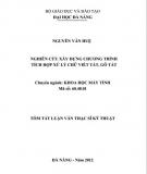 Tóm tắt Luận văn Thạc sĩ Kỹ thuật: Nghiên cứu xây dựng chương trình tích hợp xử lý chữ viết tắt, gõ tắt