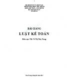 Bài giảng Luật Kế toán: Phần 2 - ThS. Võ Thị Thùy Trang