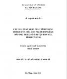 Tóm tắt Luận văn Thạc sĩ Kinh tế: Các giải pháp khắc phục tình trạng bỏ học của học sinh người đồng bào dân tộc thiểu số ở huyện Kon Bảy, tỉnh Kon Tum