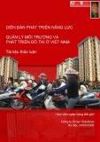 Diễn đàn phát triển năng lực quản lý môi trường và phát triển đô thị ở Việt Nam