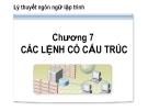 Bài giảng Lý thuyết ngôn ngữ lập trình: Chương 7 - CĐ CNTT Hữu nghị Việt Hàn
