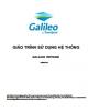 Giáo trình Sử dụng hệ thống Galileo Vietnam: Phần 1