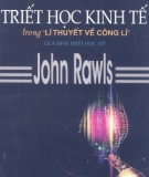 """Ebook Triết học kinh tế trong """"lí thuyết về công lí"""" - John Rawls"""