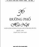 Ebook 36 đường phố Hà Nội: Phần 1 - Quốc Văn