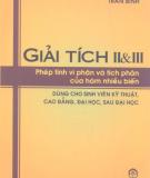 Giáo trình Giải tích II&III: Phần 2 - Trần Bình