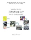 Bài giảng môn học Công nghệ may - ThS. Nguyễn Thị Ngọc Quyên