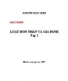 Giáo trình Luật hôn nhân và gia đình: Tập 2 - Nguyễn Ngọc Điện
