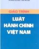 Giáo trình Luật hành chính Việt Nam - ĐH Luật Hà Nội