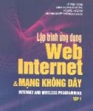 Ebook Lập trình Web Internet và mạng không dây (tập 1) - NXB Khoa học Kỹ thuật