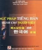 Ebook Ngữ pháp tiếng Hàn dành cho người Việt - Lê Tuấn Sơn, Huỳnh Thị Thu Thảo