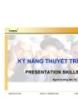 Bài giảng Kỹ năng thuyết trình - Vũ Thái Hà
