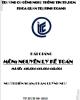 Bài giảng môn Nguyên lý kế toán: Phần 1 - Phạm Quỳnh Như