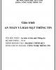Giáo trình An toàn và bảo mật thông tin - ĐH Hàng hải