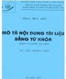 Mô tả nội dung tài liệu bằng từ khóa - Phan Huy Quế