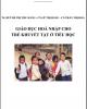 Bài giảng Giáo dục hoà nhập cho trẻ khuyết tật ở tiểu học: Phần 1 - ĐHSP Đà Nẵng