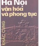 Ebook Hà Nội văn hóa và phong tục - Lý Khắc Cung