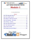 Giáo trình Lập trình Window Phone (Module 1) - Trung tâm tin học ĐH KHTN