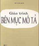 Giáo trình Biên mục mô tả - Vũ Văn Sơn