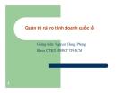 Bài giảng Quản trị kinh doanh quốc tế: Chương 1 - GV. Nguyễn Hùng Phong