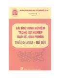 Ebook Bài học kinh nghiệm trong sự nghiệp bảo vệ, giải phóng Thăng Long - Hà Nội