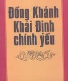 Ebook Đồng Khánh Khải Định chính yếu - Quốc sử quán triều Nguyễn
