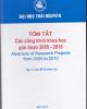 Ebook Tóm tắt các công trình khoa học giai đoạn 2005 - 2010: Phần 1 - ĐH Thái Nguyên